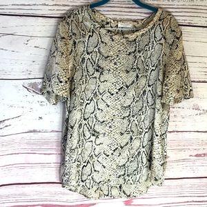 EQUIPMENT FEMME snake print blouse